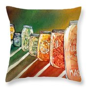 July's Harvest Throw Pillow by Starr Weems