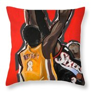 Jumpball Throw Pillow by Patrick Ficklin