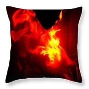 Jumping Dragon Throw Pillow by Hilde Widerberg