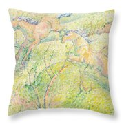 Jumping Horses Throw Pillow by Franz Marc