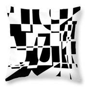 Junk Mail Throw Pillow by Elena Nosyreva