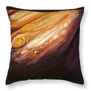 Jupiter Throw Pillow by Sheila Diemert
