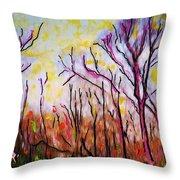 Just Across The River Throw Pillow by Sarah Loft