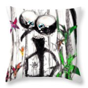 Just Amazed Throw Pillow by Marcello Cicchini