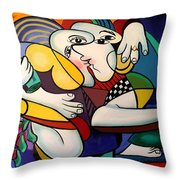 Just Engaged Throw Pillow by Anthony Falbo