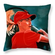 Justine Henin  Throw Pillow by Paul Meijering