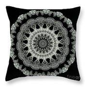 Kaleidoscope Ernst Haeckl Sea Life Series Black and White Set 2 Throw Pillow by Amy Cicconi