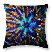 Kaleidoscope Light Perception 4 Throw Pillow by Lanjee Chee