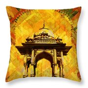 Kamran's Baradari Throw Pillow by Catf