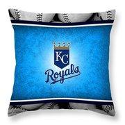 Kansas City Royals Throw Pillow by Joe Hamilton