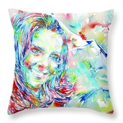 Kate Middleton Portrait.1 Throw Pillow by Fabrizio Cassetta