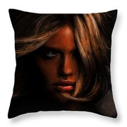 Kate Upton Throw Pillow by Jennifer Hotai