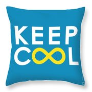 Keep Cool Forever Throw Pillow by Budi Kwan