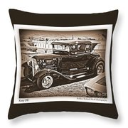 Keep Off My Car Throw Pillow by Bobbee Rickard