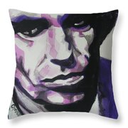 Keith Richards Throw Pillow by Chrisann Ellis