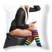Kellie5 Throw Pillow by Yhun Suarez