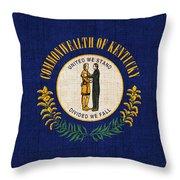 Kentucky State Flag Throw Pillow by Pixel Chimp