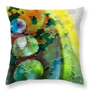 Kernodle On The Half Shell Throw Pillow by Bellesouth Studio