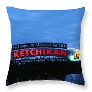 Ketchikan Throw Pillow by Robert Bales