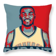 Kevin Durant Throw Pillow by Taylan Soyturk