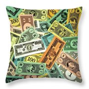 Kid Cash Throw Pillow by Benjamin Yeager