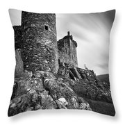 Kilchurn Castle Throw Pillow by Dave Bowman