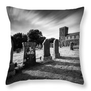 Kilmartin Parish Church Throw Pillow by Dave Bowman
