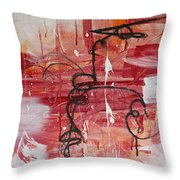 Kinetic Energy Throw Pillow by Stephanie Holznecht