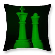 King And Queen In Green Throw Pillow by Rob Hans