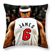 King James Throw Pillow by Florian Rodarte