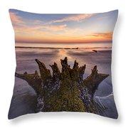 King Neptune Throw Pillow by Debra and Dave Vanderlaan
