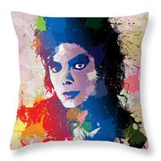 King Of Pop Throw Pillow by Anthony Mwangi