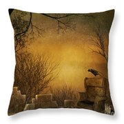 King Of The Ruins Throw Pillow by Bedros Awak