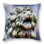King Of The Sky Throw Pillow by RC deWinter