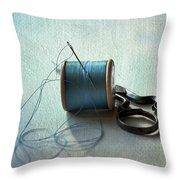 Kingfisher Blue Throw Pillow by Jan Bickerton