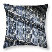 Kings Cross St Pancras Windows Throw Pillow by Joan Carroll