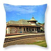 Kirkwood Station Throw Pillow by Marty Koch