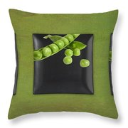 Kitchen Art - Peas - 02t01b Throw Pillow by Aimelle