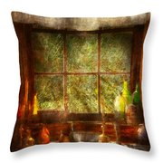 Kitchen - Table Setting Throw Pillow by Mike Savad
