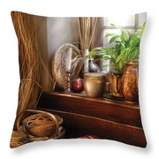 Kitchen - Try To Keep Busy  Throw Pillow by Mike Savad