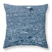 Kite Surfing Throw Pillow by Brian Roscorla