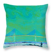 Kiteboarding The Bay Throw Pillow by David Lee Thompson