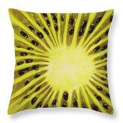 Kiwi Throw Pillow by Anastasiya Malakhova