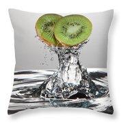 Kiwi Freshsplash Throw Pillow by Steve Gadomski
