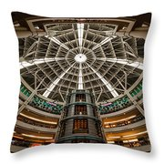 Klcc Mall Throw Pillow by Adrian Evans