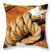 Knotted Hemp Throw Pillow by Allan Morrison