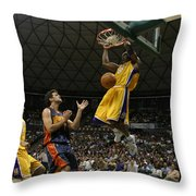 Kobe Bryant Dunk Throw Pillow by Mountain Dreams