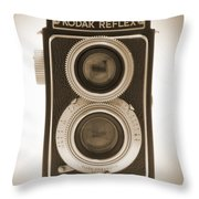 Kodak Reflex Camera Throw Pillow by Mike McGlothlen