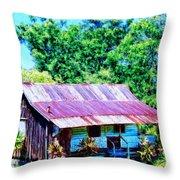Kona Coffee Shack Throw Pillow by Dominic Piperata
