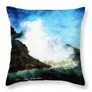 Kona Sea Throw Pillow by Athala Carole Bruckner